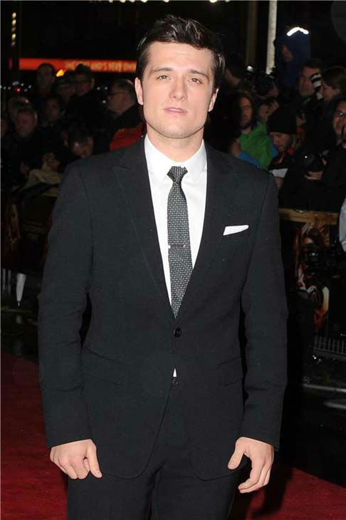 Josh Hutcherson appears at 'The Hunger Games: Catching Fire' U.K. premiere on Nov. 11, 2013.