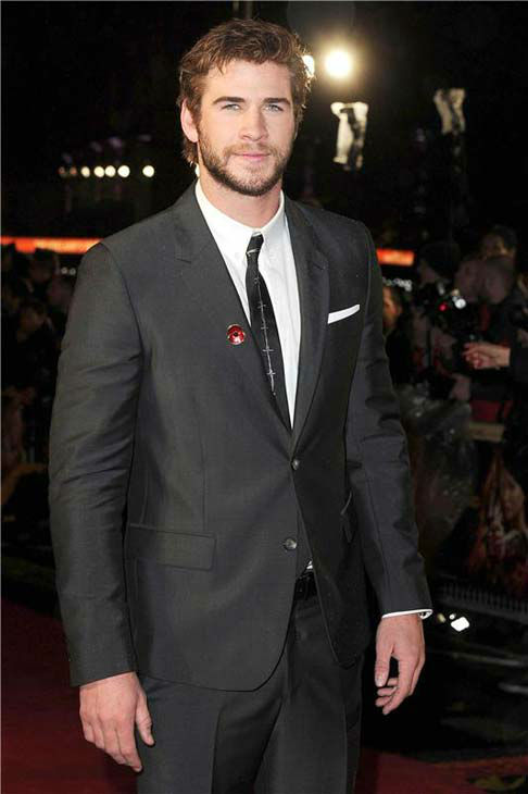 Liam Hemsworth appears at 'The Hunger Games: Catching Fire' U.K. premiere on Nov. 11, 2013.