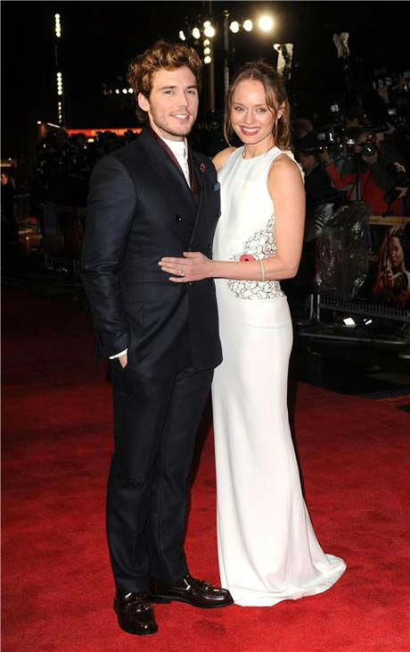 Sam Claflin and Laura Haddock appear at &#39;The Hunger Games: Catching Fire&#39; U.K. premiere on Nov. 11, 2013. <span class=meta>(Richard Young &#47; startraksphoto.com)</span>