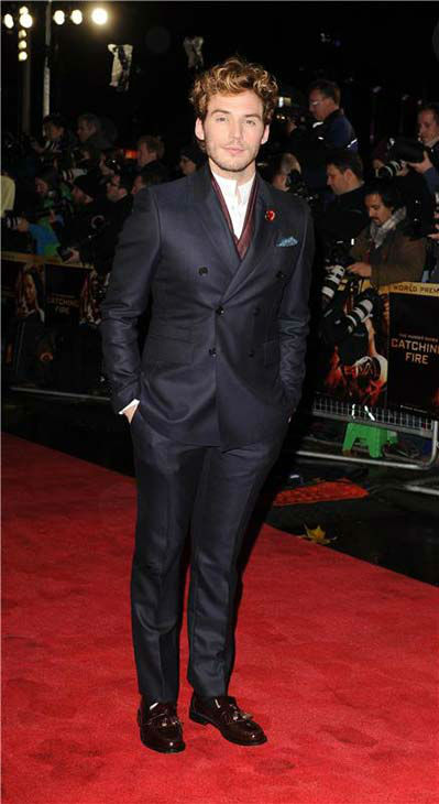 Sam Claflin appears at &#39;The Hunger Games: Catching Fire&#39; U.K. premiere on Nov. 11, 2013. <span class=meta>(Richard Young &#47; startraksphoto.com)</span>