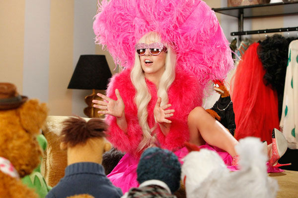 Lady Gaga appears with Muppets in a promotional photo for 'Lady Gaga and The Muppets' Holiday Spectacular,' which airs on ABC on Nov. 28, 2013.