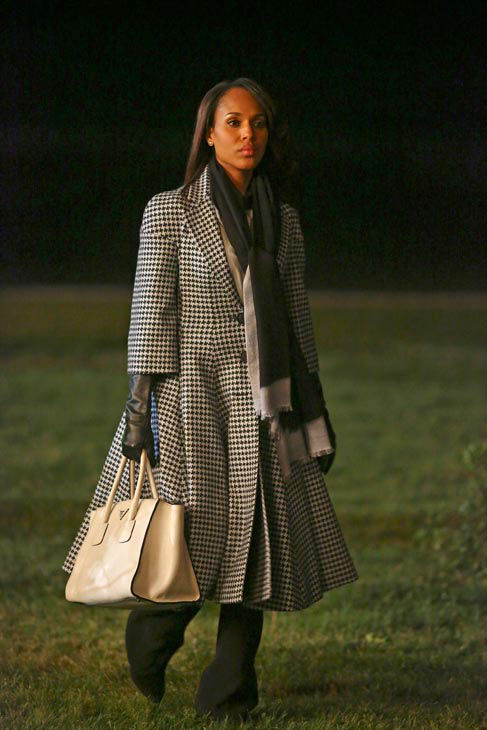 Kerry Washington appears in a scene from &#39;Scandal&#39; episode 308: &#39;Vermont is for Lover&#39;s, Too,&#39; which is set to air on Nov. 21, 2013. Episode synopsis: Olivia and the team try to handle both uncovering the truth behind Operation Remington, while also managing a potential crisis with the Josie Marcus campaign. Meanwhile, Quinn falls further down the rabbit hole with Charlie, and Cyrus creates a plan to take down Sally, but doesn&#39;t think of the possible harm he could inflict on himself. <span class=meta>(ABC Photo&#47; Michael Ansell)</span>