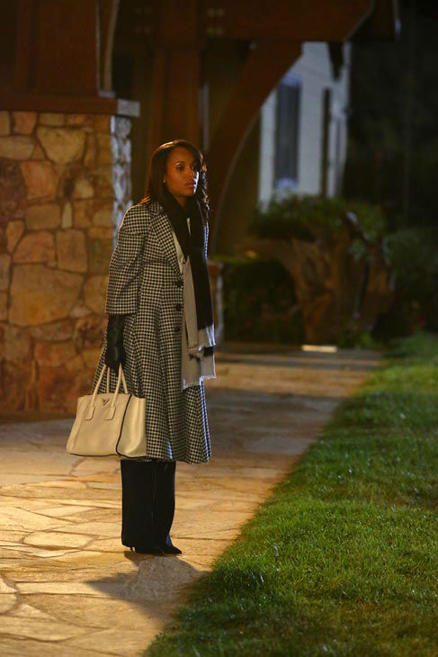 Kerry Washington appears in a scene from 'Scandal' episode 308: 'Vermont is for Lover's, Too,' which is set to air on Nov. 21, 2013.
