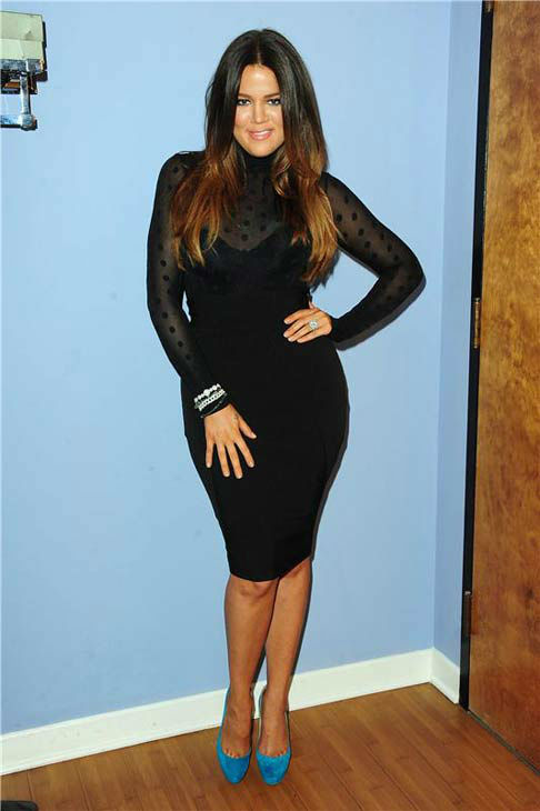 Khloe Kardashian appears at a taping of &#39;The Tonight Show with Jay Leno&#39; in Los Angeles, California on May 14, 2012. <span class=meta>(Albert Michael &#47; startraksphoto.com)</span>