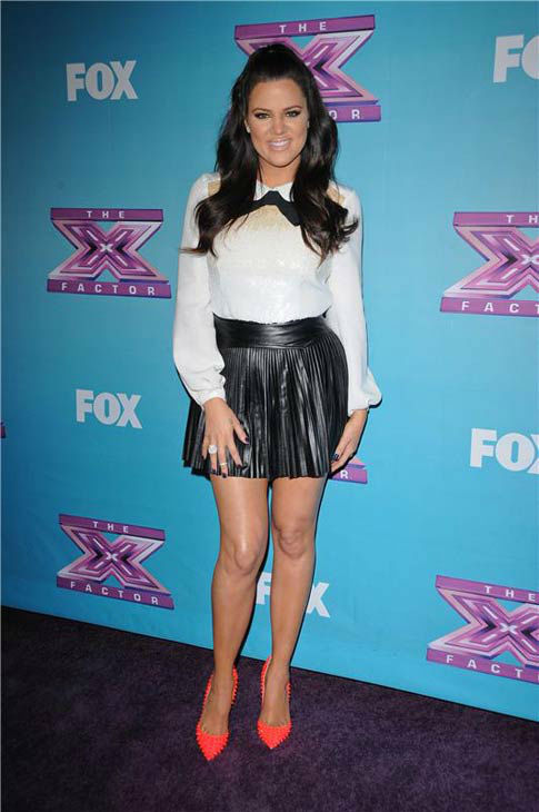 Khloe Kardashian appears at FOX&#39;s &#39;The X Factor&#39; season finale in Los Angeles, California on Dec. 19, 2012.  <span class=meta>(Giulio Marcocchi &#47; startraksphoto.com)</span>