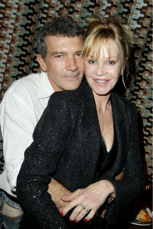 Antonio Banderas and wife Melanie Griffith appear at the premiere of 'Black Nativity' in New York on Nov. 18, 2013.