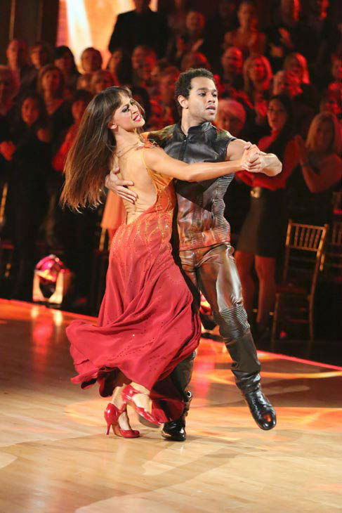 Corbin Bleu and Karina Smirnoff dance the Tango on week 10 of &#39;Dancing With The Stars&#39; on Nov. 18, 2013. They received 35 out of 40 points from the judges. The two later received 40 out of 40 for their second routine, a Rumba. <span class=meta>(ABC Photo&#47; Adam Taylor)</span>