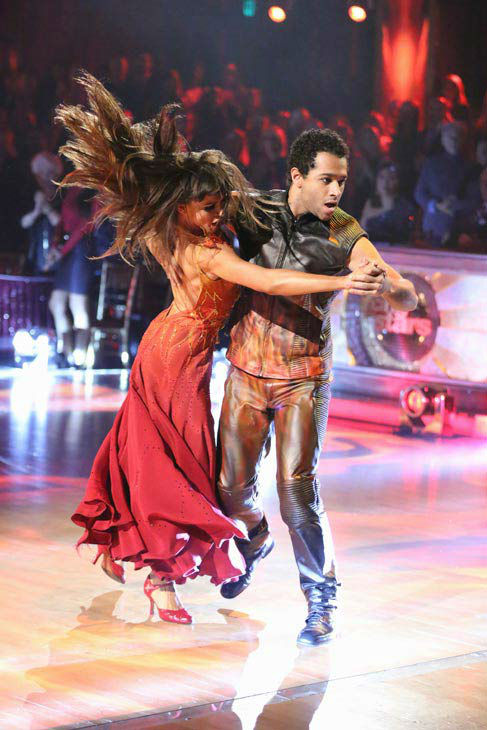 "<div class=""meta image-caption""><div class=""origin-logo origin-image ""><span></span></div><span class=""caption-text"">Corbin Bleu and Karina Smirnoff dance the Tango on week 10 of 'Dancing With The Stars' on Nov. 18, 2013. They received 35 out of 40 points from the judges. The two later received 40 out of 40 for their second routine, a Rumba. (ABC Photo/ Adam Taylor)</span></div>"