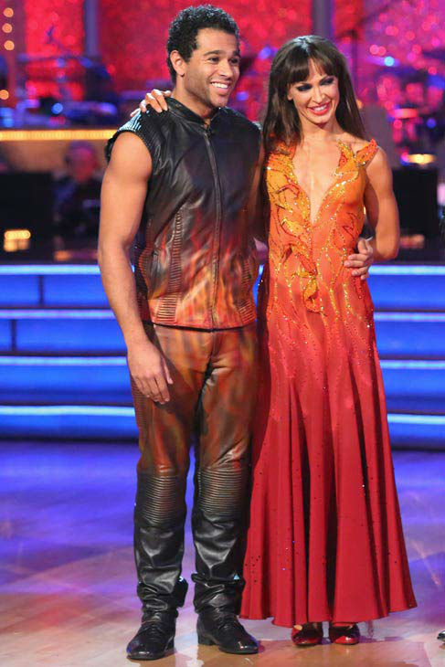 "<div class=""meta ""><span class=""caption-text "">Corbin Bleu and Karina Smirnoff danced the Tango on week 10 of 'Dancing With The Stars' on Nov. 18, 2013. They received 35 out of 40 points from the judges. The two later received 40 out of 40 for their second routine, a Rumba. (ABC Photo/ Adam Taylor)</span></div>"