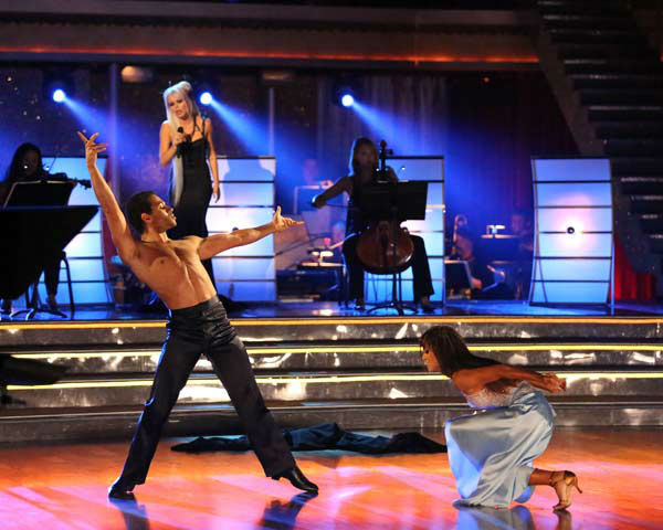 "<div class=""meta image-caption""><div class=""origin-logo origin-image ""><span></span></div><span class=""caption-text"">Corbin Bleu and Karina Smirnoff dance the Rumba on week 10 of 'Dancing With The Stars' on Nov. 18, 2013. They received 40 out of 40 points from the judges. The two received 35 out of 40 for their first routine, a Tango. (ABC Photo/ Adam Taylor)</span></div>"