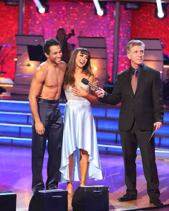 "<div class=""meta image-caption""><div class=""origin-logo origin-image ""><span></span></div><span class=""caption-text"">Corbin Bleu and Karina Smirnoff danced the Rumba on week 10 of 'Dancing With The Stars' on Nov. 18, 2013. They received 40 out of 40 points from the judges. The two received 35 out of 40 for their first routine, a Tango. (ABC Photo/ Adam Taylor)</span></div>"