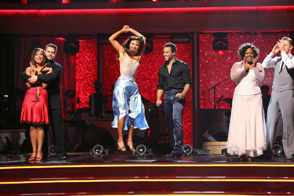 "<div class=""meta image-caption""><div class=""origin-logo origin-image ""><span></span></div><span class=""caption-text"">Corbin Bleu and Karina Smirnoff react to being safe on week 10 of 'Dancing With The Stars' on Nov. 18, 2013. They received 35 out of 40 points from the judges for their Waltz. The two later received 40 out of 40 for their second routine, a Rumba. (ABC Photo/ Adam Taylor)</span></div>"