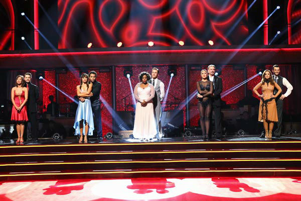"<div class=""meta ""><span class=""caption-text "">The cast of season 17 await their fate on week 10 of 'Dancing With The Stars' on Nov. 18, 2013. (ABC Photo/ Adam Taylor)</span></div>"