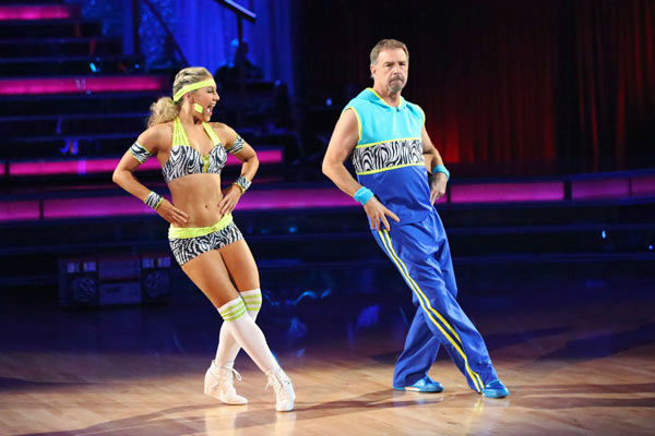 Bill Engvall and Emma Slater appear in a still from 'Dancing With The Stars' on Nov. 18, 2013.