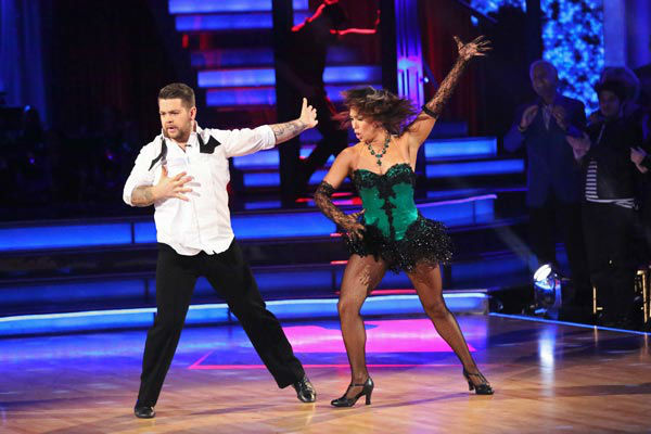 "<div class=""meta ""><span class=""caption-text "">Jack Osbourne and Cheryl Burke perform a Jazz routine on week 10 of 'Dancing With The Stars' on Nov. 18, 2013. They received 33 out of 40 points from the judges. The two later received 38 out of 40 for their second routine, an Argentine Tango. (ABC Photo/ Adam Taylor)</span></div>"