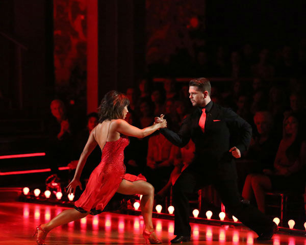 Jack Osbourne and Cheryl Burke dance the Argentine Tango on week 10 of &#39;Dancing With The Stars&#39; on Nov. 18, 2013. They received 38 out of 40 points from the judges. The two received 33 out of 40 for their first routine, a Jazz performance. <span class=meta>(ABC Photo&#47; Adam Taylor)</span>