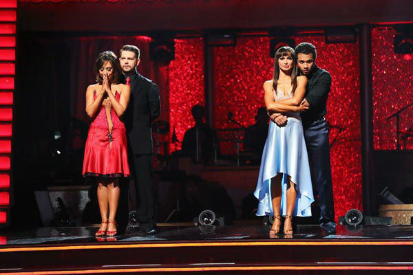 Jack Osbourne and Cheryl Burke await their fate on week 10 of &#39;Dancing With The Stars&#39; on Nov. 18, 2013. They received 33 out of 40 points from the judges for their Jazz routine. The two later received 38 out of 40 for their second routine, an Argentine Tango. <span class=meta>(ABC Photo&#47; Adam Taylor)</span>