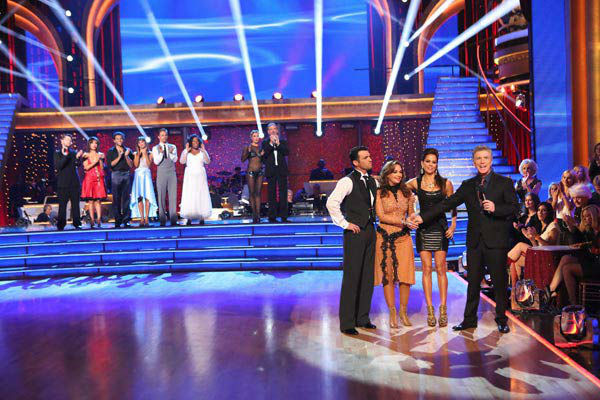 "<div class=""meta ""><span class=""caption-text "">Leah Remini and Tony Dovolani react to being eliminated on week 10 of 'Dancing With The Stars' on Nov. 18, 2013. They received 32 out of 40 points from the judges for their Paso Doble. The two later received 33 out of 40 for their second routine, an Argentine Tango. (ABC Photo/ Adam Taylor)</span></div>"