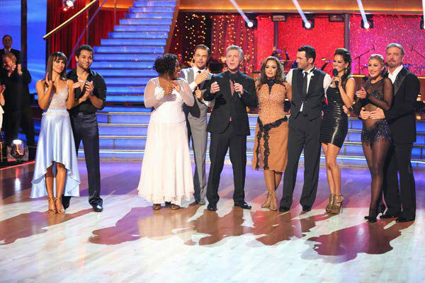 Leah Remini and Tony Dovolani appear in a still from 'Dancing With The Stars' on Nov. 18, 2013.