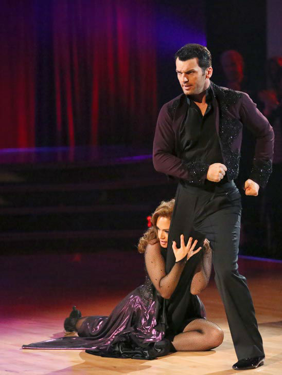 "<div class=""meta ""><span class=""caption-text "">Leah Remini and Tony Dovolani dance the Paso Doble on week 10 of 'Dancing With The Stars' on Nov. 18, 2013. They received 32 out of 40 points from the judges. The two later received 33 out of 40 for their second routine, an Argentine Tango. (ABC Photo/ Adam Taylor)</span></div>"
