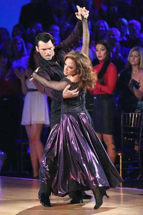 Leah Remini and Tony Dovolani dance the Paso Doble on week 10 of &#39;Dancing With The Stars&#39; on Nov. 18, 2013. They received 32 out of 40 points from the judges. The two later received 33 out of 40 for their second routine, an Argentine Tango. <span class=meta>(ABC Photo&#47; Adam Taylor)</span>