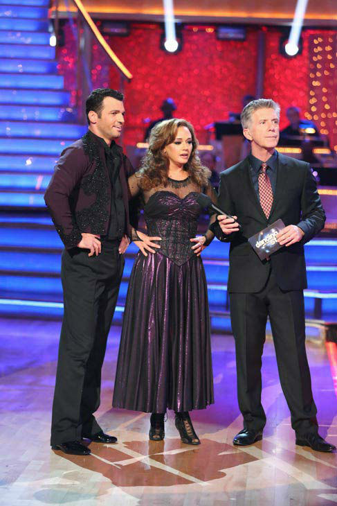 "<div class=""meta ""><span class=""caption-text "">Leah Remini and Tony Dovolani danced the Paso Doble on week 10 of 'Dancing With The Stars' on Nov. 18, 2013. They received 32 out of 40 points from the judges. The two later received 33 out of 40 for their second routine, an Argentine Tango. (ABC Photo/ Adam Taylor)</span></div>"