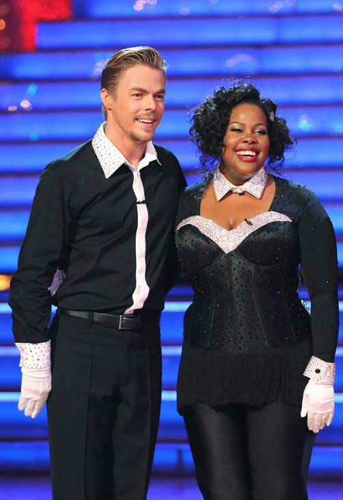 Amber Riley and Derek Hough performed a Jazz routine on week 10 of &#39;Dancing With The Stars&#39; on Nov. 18, 2013. They received 39 out of 40 points from the judges. The two later received 40 out of 40 for their second routine, a Viennese Waltz. <span class=meta>(ABC Photo&#47; Adam Taylor)</span>