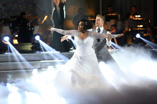 Amber Riley and Derek Hough dance the Viennese Waltz on week 10 of &#39;Dancing With The Stars&#39; on Nov. 18, 2013. They received 40 out of 40 points from the judges. The two received 39 out of 40 for their first routine, a Jazz performance. <span class=meta>(ABC Photo&#47; Adam Taylor)</span>
