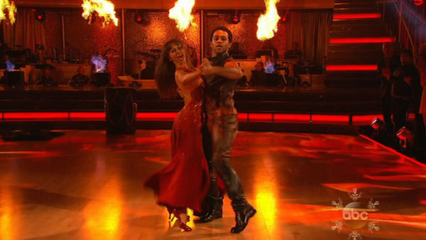 "<div class=""meta image-caption""><div class=""origin-logo origin-image ""><span></span></div><span class=""caption-text"">Corbin Bleu and Karina Smirnoff dance the Tango on week 10 of 'Dancing With The Stars' on Nov. 18, 2013. They received 35 out of 40 points from the judges. The two later received 40 out of 40 for their second routine, a Rumba. (ABC)</span></div>"