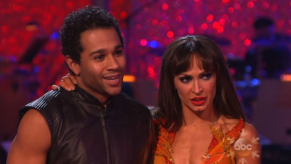 "<div class=""meta image-caption""><div class=""origin-logo origin-image ""><span></span></div><span class=""caption-text"">Corbin Bleu and Karina Smirnoff danced the Tango on week 10 of 'Dancing With The Stars' on Nov. 18, 2013. They received 35 out of 40 points from the judges. The two later received 40 out of 40 for their second routine, a Rumba. (ABC)</span></div>"