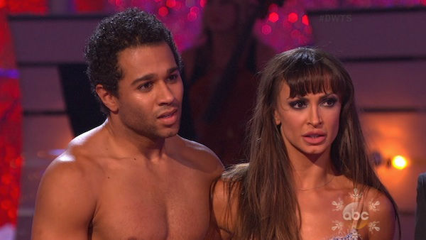 "<div class=""meta image-caption""><div class=""origin-logo origin-image ""><span></span></div><span class=""caption-text"">Corbin Bleu and Karina Smirnoff danced the Rumba on week 10 of 'Dancing With The Stars' on Nov. 18, 2013. They received 40 out of 40 points from the judges. The two received 35 out of 40 for their first routine, a Tango. (ABC)</span></div>"