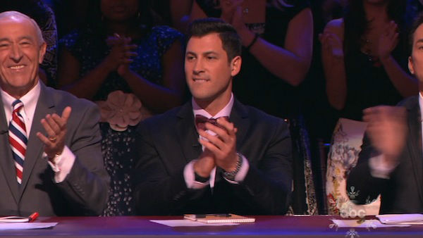 "<div class=""meta image-caption""><div class=""origin-logo origin-image ""><span></span></div><span class=""caption-text"">Maksim Chmerkovskiy appears as a guest judge on week 10 of 'Dancing With The Stars' on Nov. 18, 2013. (ABC)</span></div>"