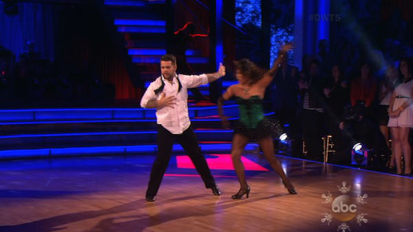Jack Osbourne and Cheryl Burke perform a Jazz routine on week 10 of &#39;Dancing With The Stars&#39; on Nov. 18, 2013. They received 33 out of 40 points from the judges. The two later received 38 out of 40 for their second routine, an Argentine Tango. <span class=meta>(ABC)</span>