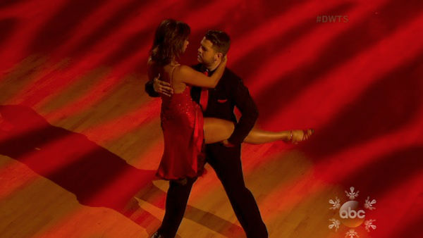 Jack Osbourne and Cheryl Burke dance the Argentine Tango on week 10 of &#39;Dancing With The Stars&#39; on Nov. 18, 2013. They received 38 out of 40 points from the judges. The two received 33 out of 40 for their first routine, a Jazz performance. <span class=meta>(ABC)</span>