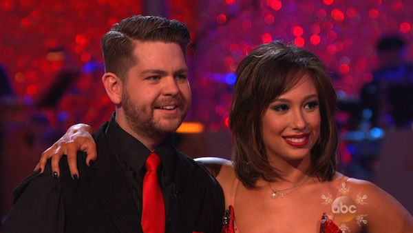 Jack Osbourne and Cheryl Burke danced the Argentine Tango on week 10 of &#39;Dancing With The Stars&#39; on Nov. 18, 2013. They received 38 out of 40 points from the judges. The two received 33 out of 40 for their first routine, a Jazz performance. <span class=meta>(ABC)</span>
