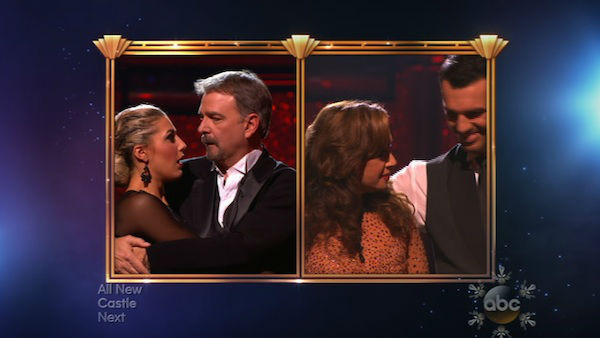 Leah Remini and Tony Dovolani react to being eliminated on week 10 of &#39;Dancing With The Stars&#39; on Nov. 18, 2013. They received 32 out of 40 points from the judges for their Paso Doble. The two later received 33 out of 40 for their second routine, an Argentine Tango. <span class=meta>(ABC)</span>