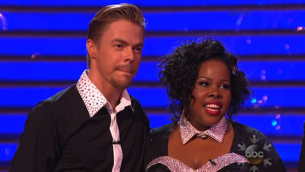 Amber Riley and Derek Hough perform a Jazz routine on week 10 of &#39;Dancing With The Stars&#39; on Nov. 18, 2013. They received 39 out of 40 points from the judges.  The two later received 40 out of 40 for their second routine, a Viennese Waltz. <span class=meta>(ABC)</span>