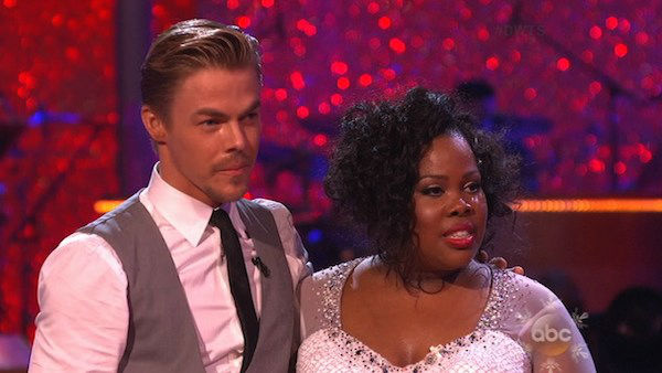 Amber Riley and Derek Hough danced the Viennese Waltz on week 10 of &#39;Dancing With The Stars&#39; on Nov. 18, 2013. They received 40 out of 40 points from the judges. The two received 39 out of 40 for their first routine, a Jazz performance. <span class=meta>(ABC)</span>
