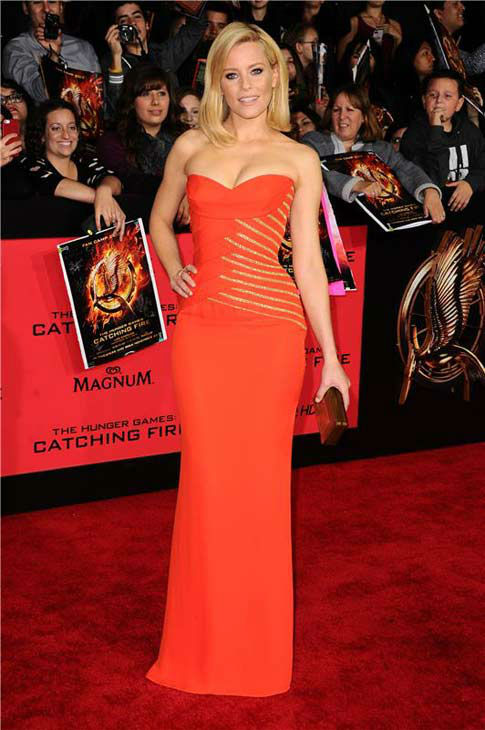 Elizabeth Banks appears at the Los Angeles premiere of 'The Hunger Games: Catching Fire' on Nov. 18, 2013.