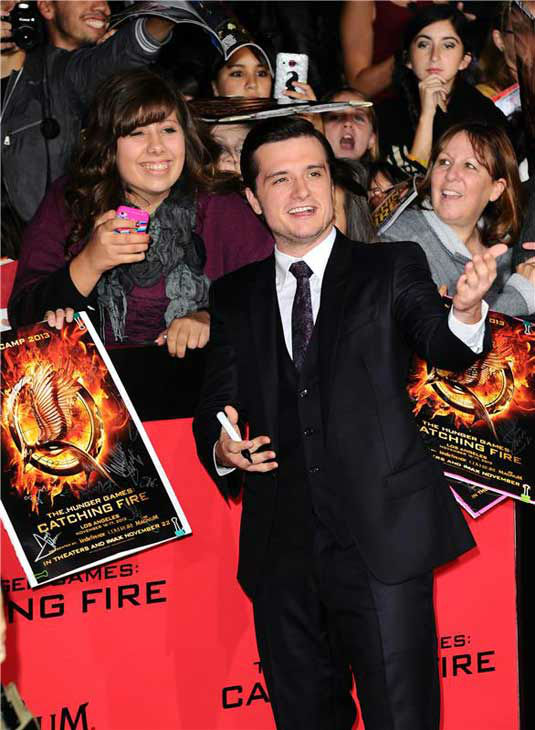 Josh Hutcherson appears at the Los Angeles premiere of 'The Hunger Games: Catching Fire' on Nov. 18, 2013.