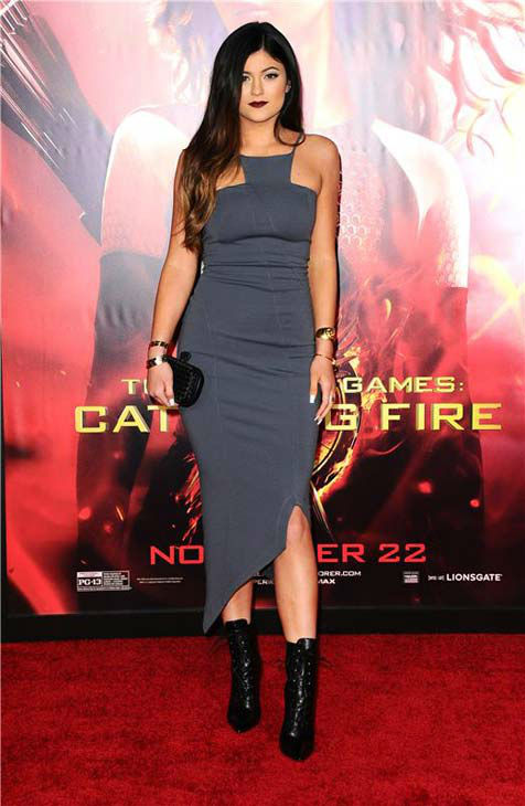 Kylie Jenner appears at the Los Angeles premiere of 'The Hunger Games: Catching Fire' on Nov. 18, 2013.