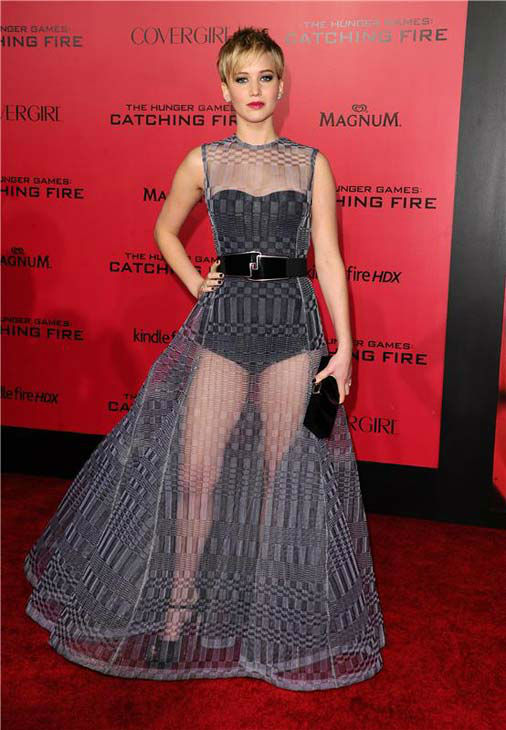 "<div class=""meta ""><span class=""caption-text "">Jennifer Lawrence appears at the Los Angeles premiere of 'The Hunger Games: Catching Fire' on Nov. 18, 2013.   (Sara De Boer / startraksphoto.com)</span></div>"
