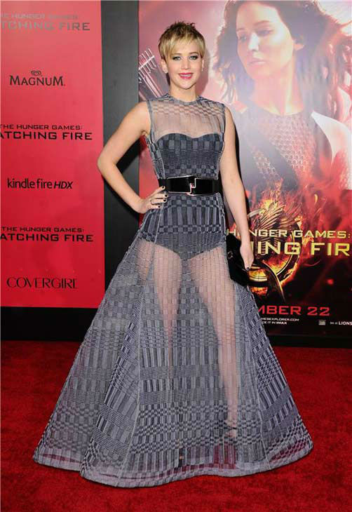 Jennifer Lawrence appears at the Los Angeles premiere of &#39;The Hunger Games: Catching Fire&#39; on Nov. 18, 2013.   <span class=meta>(Sara De Boer &#47; startraksphoto.com)</span>