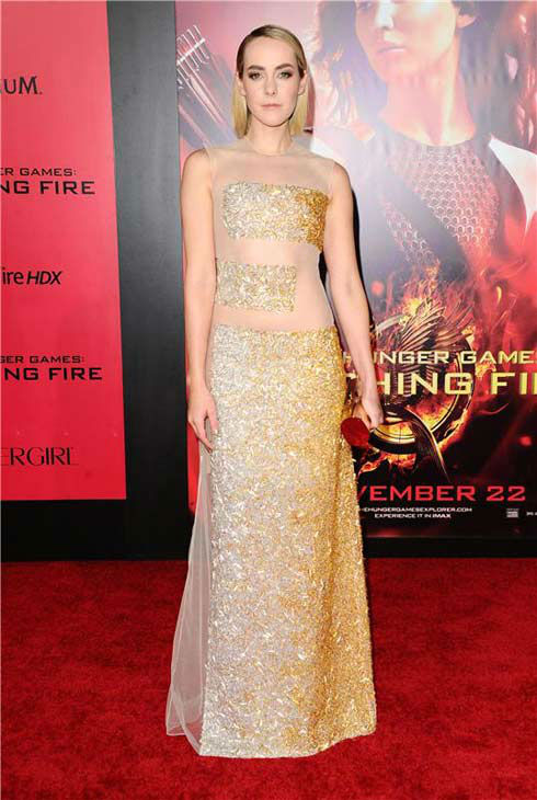 Jena Malone appears at the Los Angeles premiere of 'The Hunger Games: Catching Fire' on Nov. 18, 2013.