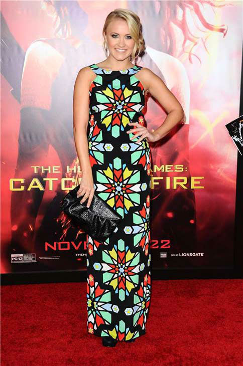 "<div class=""meta ""><span class=""caption-text "">Emily Osment appears at the Los Angeles premiere of 'The Hunger Games: Catching Fire' on Nov. 18, 2013. (Sara De Boer / startraksphoto.com)</span></div>"