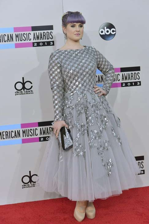 "<div class=""meta ""><span class=""caption-text "">Kelly Osbourne arrives at the American Music Awards at the Nokia Theatre L.A. Live on Sunday, Nov. 24, 2013, in Los Angeles. (ABC Photo/Richard Harbaugh)</span></div>"
