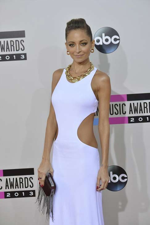 "<div class=""meta ""><span class=""caption-text "">Nicole Richie arrives at the American Music Awards at the Nokia Theatre L.A. Live on Sunday, Nov. 24, 2013, in Los Angeles. (ABC Photo/Richard Harbaugh)</span></div>"