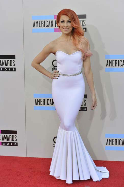 "<div class=""meta ""><span class=""caption-text "">Bonnie McKee arrives at the American Music Awards at the Nokia Theatre L.A. Live on Sunday, Nov. 24, 2013, in Los Angeles. (ABC Photo/Richard Harbaugh)</span></div>"