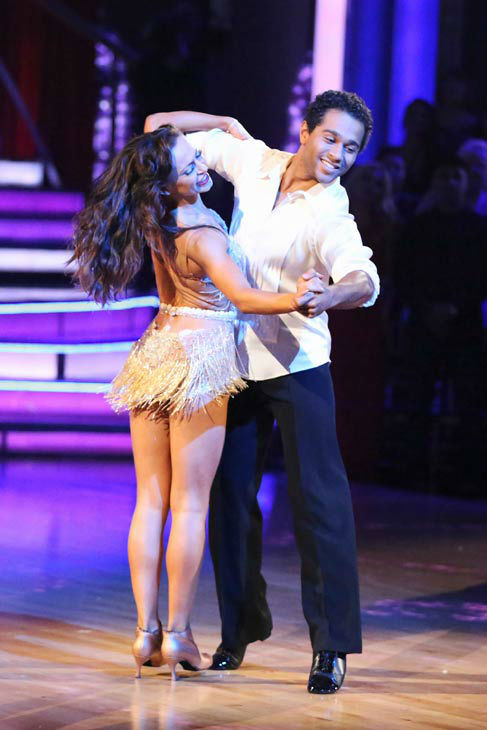"<div class=""meta ""><span class=""caption-text "">Corbin Bleu and Karina Smirnoff perform their Cha Cha Cha and Foxtrot fusion dance on the season 17 finale of 'Dancing With The Stars' on Nov. 26, 2013. They received 27 out of 30 points from the judges. The two scored a total of 89 out of 95 points for both nights. (ABC Photo/ Adam Taylor)</span></div>"