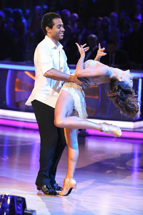 "<div class=""meta image-caption""><div class=""origin-logo origin-image ""><span></span></div><span class=""caption-text"">Corbin Bleu and Karina Smirnoff perform their Cha Cha Cha and Foxtrot fusion dance on the season 17 finale of 'Dancing With The Stars' on Nov. 26, 2013. They received 27 out of 30 points from the judges. The two scored a total of 89 out of 95 points for both nights. (ABC Photo/ Adam Taylor)</span></div>"